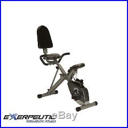 NEW Exerpeutic 400XL Folding Recumbent Exercise Bike with Pulse Monitor