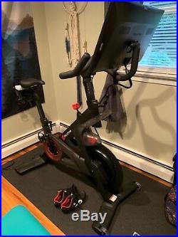 Peloton 2nd Gen Bike + Heart Monitor + 3lb Weights + Floor Mat + Wms sz 7 shoes
