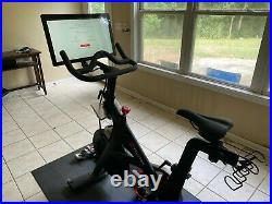 Peloton Bike (Generation 3), with mat, heart rate monitor and shoes (size 9)