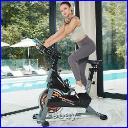 Pooboo Stationary Exercise Bike Studio Cycle Indoor Training Spinning Flywheel