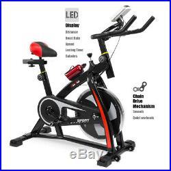 Premium Stationary Exercise Bike Cycling Bicycle LED 22lbs Flywheel Trainer Bike