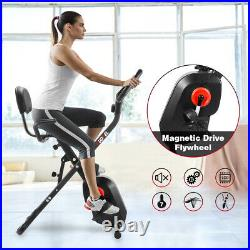 Pro Stationary Magnetic Exercise Bike Trainer Fitness Cardio Cycling Workout Gym