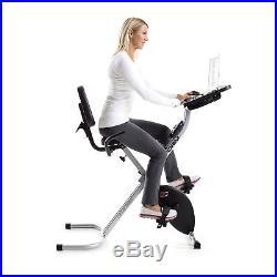 ProForm Foldable Portable Stationary Fitness Desk Exercise Bike with Desktop