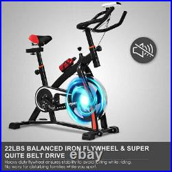 Quiet Home Fitness Bicycle Stationary Exercising Bike Cardio Gym Workout Cycling