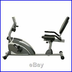 Recumbent Bike Extended Capacity Cardiovascular Great Exercise 8 Levels LCD NEW