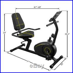 Recumbent Exercise Bike 8-Level ResistanceStationary Bicycle WithBluetooth Monitor
