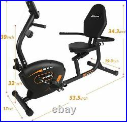 Recumbent Exercise Bike for Adults Seniors Indoor Magnetic Cycling Fitness Equip