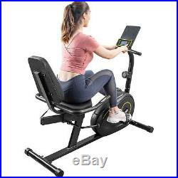 Recumbent Exercise Bike with 8-Level Resistance Easy Adjustable Seat