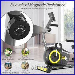 Recumbent Magnetic Exercise Bike-Seated Support Elliptical Exercise Machine Hot