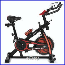 Red Bicycle Cycling Fitness Exercise Stationary Bike Cardio Workout Home Indoor