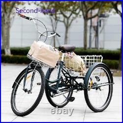 Secondhand 24 Wheels Trike for Men and Women Single Speed Cruise Bike