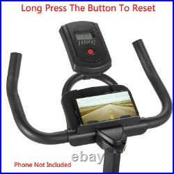 Stationary Bike Fitness Cycling Exercise Bicycle Cardio Workout withLCD Home Gym