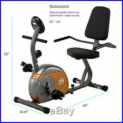 Stationary Bike Recumbent Exercise Bike with Resistance Healthy Gym