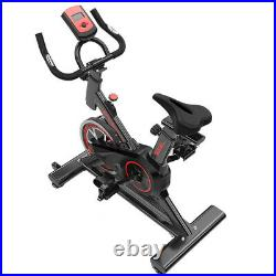 Stationary Exercise Bike Indoor Cycling Bicycle Cardio Fitness Gym Workout WithLCD