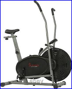 Sunny Health & Fitness Air Bike, Fan Exercise Bike with Unlimited Resistance