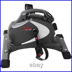Sunny Health & Fitness Mini EXERCISE BIKE, Portable Magnetic STATIONARY BIKE Gray