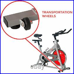 Sunny Health & Fitness SF-B1001S Indoor Exercise Cycle Bike, Silver