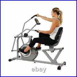 Sunny Health Magnetic Recumbent Bike Exercise Cross Arm Training SF RB4708 New