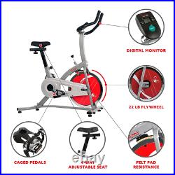 Sunny Indoor Cycling Stationary Cycle Training Exercise Bike 22lb Flywheel NEW