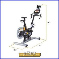Tour de France Pro 5.0 Ergonomic Exercise Bike with 10-inch Touchscreen Console