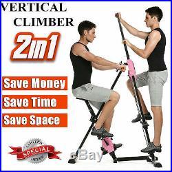 Vertical Climber Fitness Climbing Machine Leg Exercise Stepper Cardio Workout