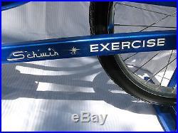 Vintage 1960's Blue Schwinn Exercise Stationary Bike Completely Restored