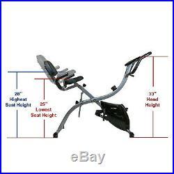 Xspec Dual Recumbent Upright Indoor Cycling Foldable Folding Exercise Bike