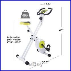 Xspec Foldable Stationary Upright Folding Exercise Bike Workout Indoor Cycling