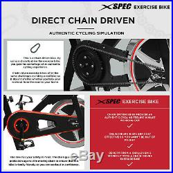 Xspec Indoor Stationary Upright Cycling Exercise Bike Chain Drive 40lbs Flywheel