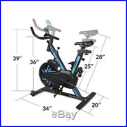 Xspec Max Pro Stationary Upright Exercise Bike with 25 lbs Flywheel, Blue