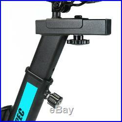 Xspec Pro Stationary Upright Blue Exercise Bike Cycling Bike 25LB Flywheel Pulse