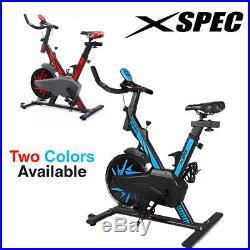 Xspec Pro Stationary Upright Blue Exercise Bike Cycling Bike Heart Pulse Sensors
